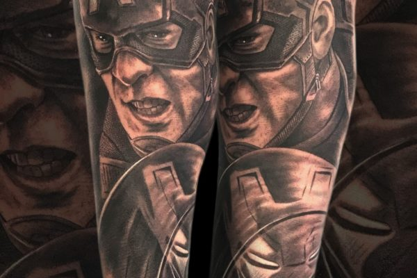 Tatuaje Capitan America Marvel